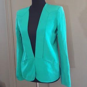 Parker Teal Green Deep V-Neck Blazer Size M